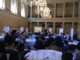 Some of the local business and heritage organisations gathered at the Assembly Rooms.