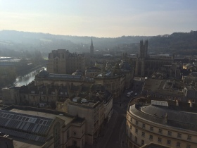 The view from one hundred feet up the tower of St Michaels Without. Photo taken by James Preston.