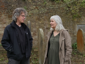 Richard White and Lorna Brunstein who are leading the walk from Frome to Bath.