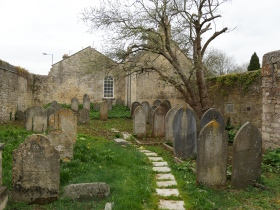The historic Jewish Cemetery at Combe Down in Bath.