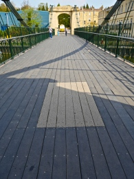 A section of the new decking which has been on trial.