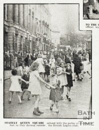 VE Day celebrations in Bath on May 12th 1945.
