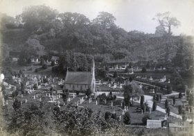 Smallcombe Cemetery, Bath c.1880s - 1890s. © Bath in Time - Private Collection