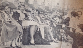 Newspaper cutting featuring the old Larkhall Carinval