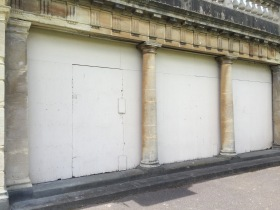 The boarded up section beneath Grand Parade