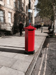 The rare Victoria Regina pillar box in Great Pulteney Street - which has recently been repainted.