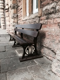 The old GWR logo you can still see on some old platform benches - even at Bath Spa!