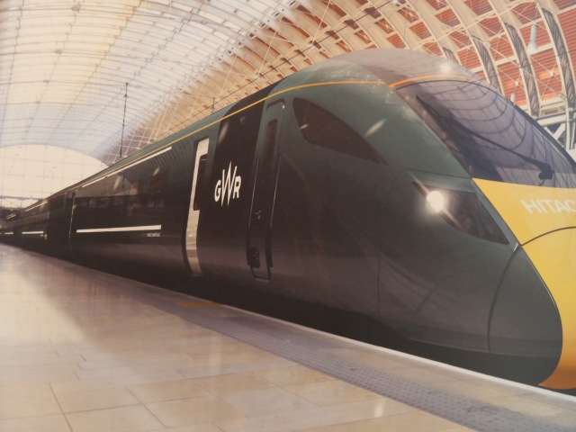 The new 'GWR' livery for the electric engines.