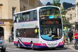 A Park and Ride bus into Bath.