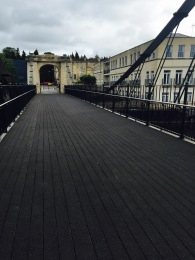 Things looking good now at Bath's Victoria Bridge.