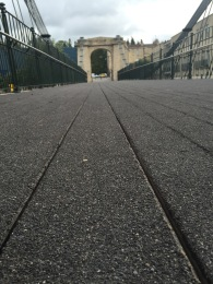 The new surface on the Victoria Bridge.