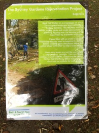A close up of an information notice that has gone up in the gardens. Click on images to enlarge.