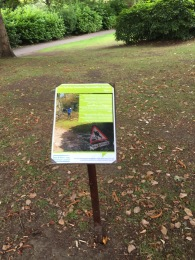 Notices about the pruning and replanting works have gone up in the gardens.