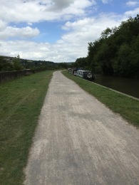 The towpath beside the Kennet & Avon Canal into Bath.