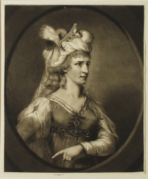Mrs Siddons in the Character of Zara, engraver John R Smith Artist Thomas Lawrence, mezzotint