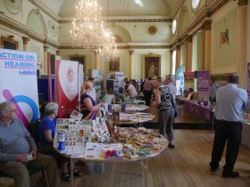 Some of the community group stalls at the Bath City Conference