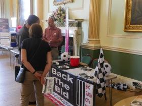 The Big Bath City Bid stall at the Bath City Conference.