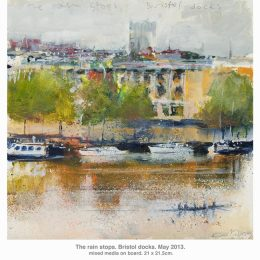 Bristol Docks as painted by Kurt Jackson. © Kurt Jackson