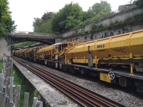 Ballast Cleaning System used during track lowering work