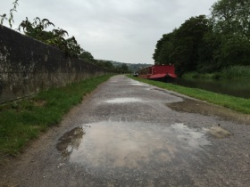 The Kennet and Avon Canal towpath into Bath