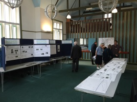Plans for resurfacing the towpath were put on show at Larkhall on Saturday for people to see and comment upon.