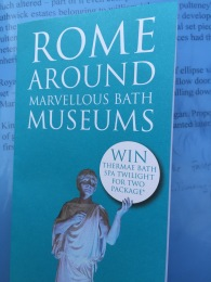 The 'Rome around Bath museums' leaflet.