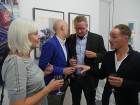 More Artspace Gallery guests at Mike Pell's current exhibition.