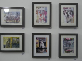Some of Mike's work on display. Click on images to enlarge.