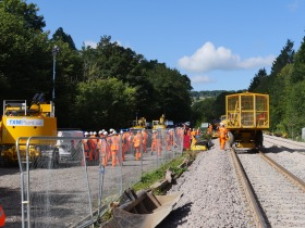 It was going to be a long and hot trudge along the newly laid ballast towards the two tunnels.