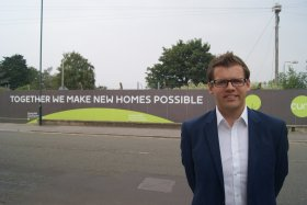 Bath MP Ben Howlett at the brownfield Foxhill development site.