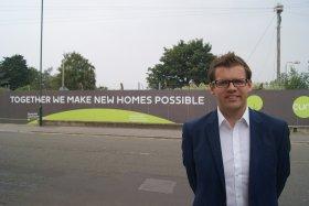 Bath MP Ben Howlett at the brownfield Foxhill development site.
