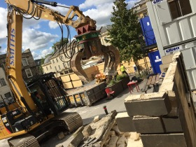 The redevelopment of the Saw Close gets underway.