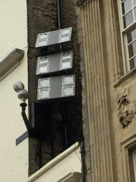 Part of the Abbey's floodlighting system.