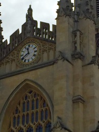 Bath Abbey clock.