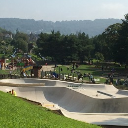 The new skateboard facility at Royal Victoria Park - pictured days before it opened! Click on images to enlarge.