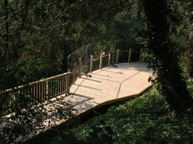 Recent picture of the newly restored aerial walkway.