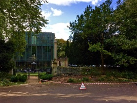 Looking at the clearance work from the Sydney Gardens side of the Holburne Museum.
