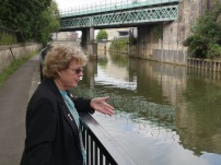 Widcombe Association member, Helen Peter - on the south side of the River Avon.