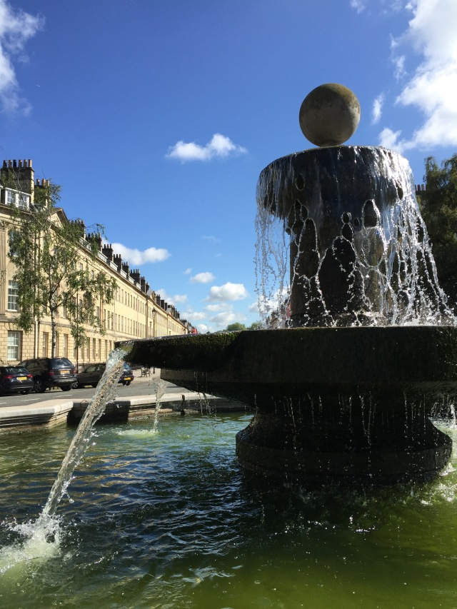 Bath's most obvious fountain in Laura Place.