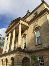 The Holburne Museum at the Sydney Gardens end of Great Pulteney Street.