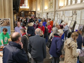 Plenty of customers for the Bath Abbey Bake sale. Click on images to enlarge.