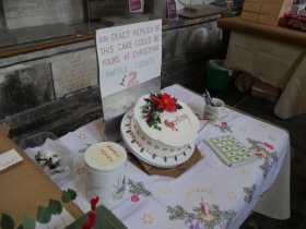 A chance to win a Christmas Cake.