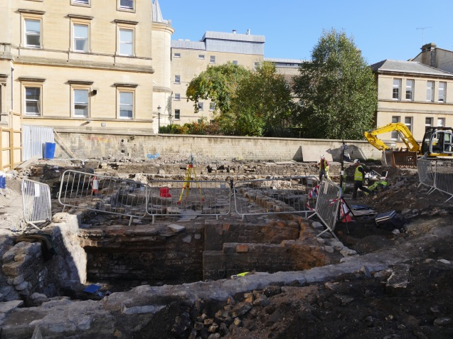Excavations underway on the Saw Close site.