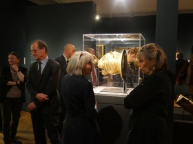 Guests enjoying a private preview of the new Gold exhibition.