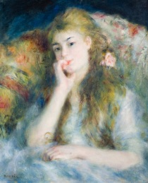 Young Woman Seated, 1876, Pierrre Auguste Renoir (1841-1919), Oil on canvas, 66 x 51cm © The Barber Institute of Fine Arts, University of Birmingham