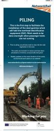 Network Rail's piling banner. Click on image to enlarge.