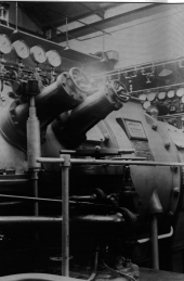 The turbo generators photographed in 1950.