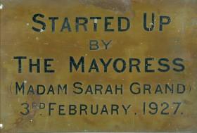 The plaque on the turbo-generators.