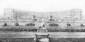 Another view of the Royal Crescent with the proposed fountains installed!