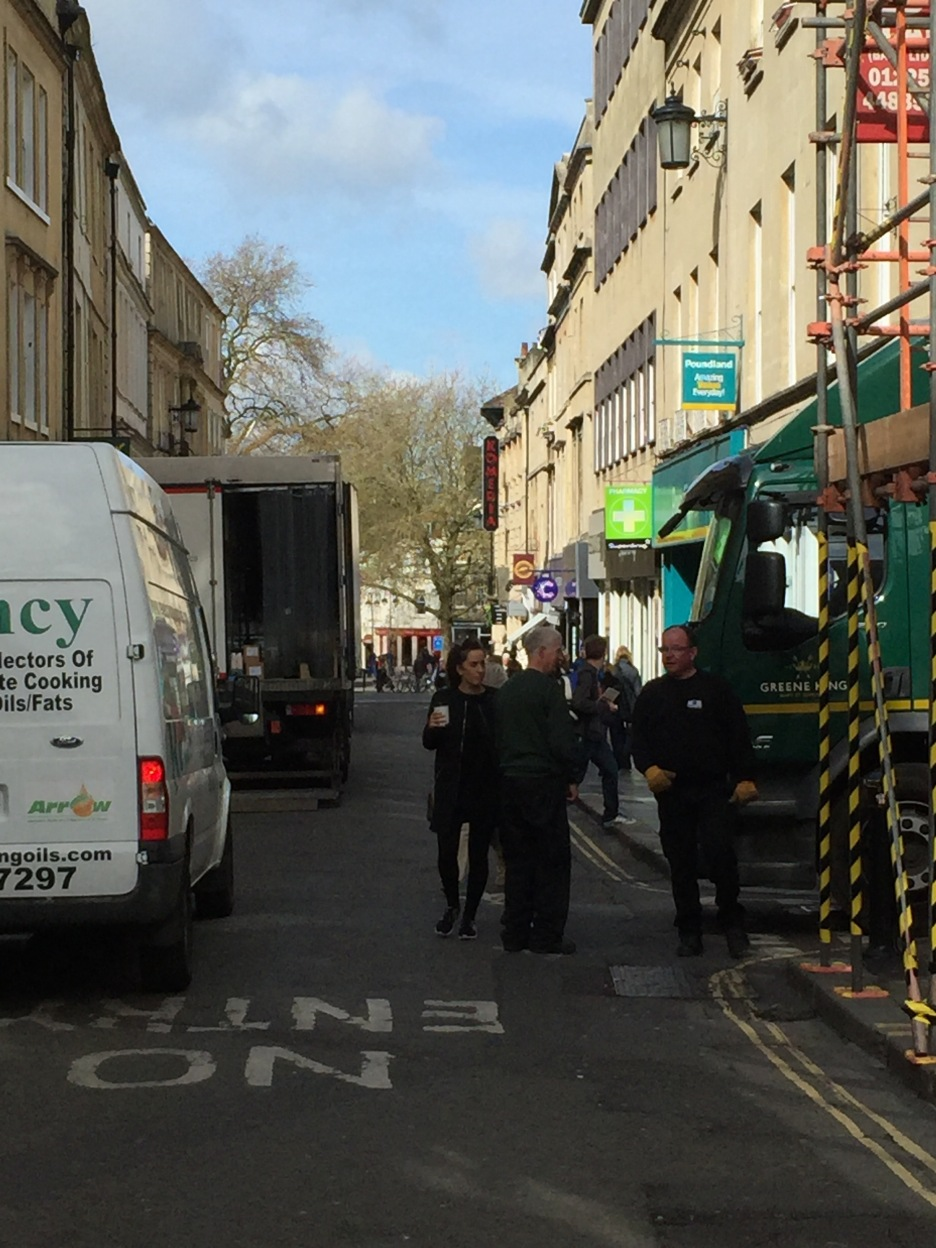 West Gate Street is one route that gets clogged with lorries and vans unloading.
